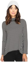 BB Dakota Cynthia Stripe Drapey Knit Top