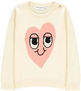 Mini Rodini Organic Cotton Pink Heart Pullover