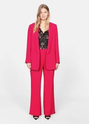 MANGO Violeta BY Structured suit blazer fuchsia - XL - Plus sizes