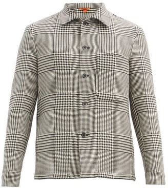 Barena Rocheo Houndstooth Wool-blend Overshirt - Light Brown