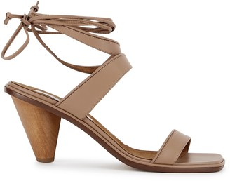 Stella McCartney Rhea 75 brown leather sandals