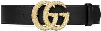 Gucci Belt with textured Double G buckle