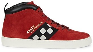 Bally Vita Parcours Check Suede Sneakers