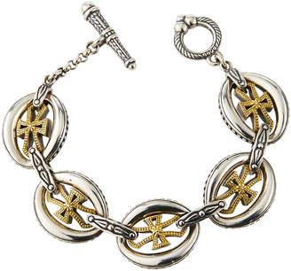 Konstantino Cross-Link Bracelet w/ 18k Gold