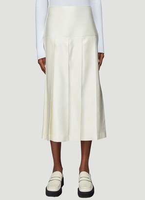 Jil Sander A-Line Pleated Midi Skirt