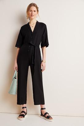 Velvet by Graham & Spencer Tamra Linen Jumpsuit By in Black Size XS