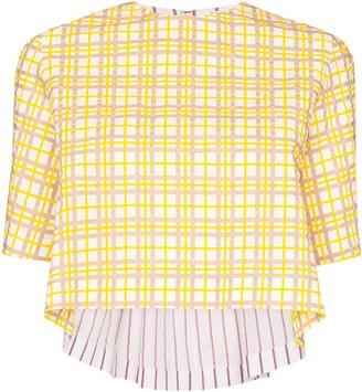 Rosie Assoulin Party in the Back checked shirt