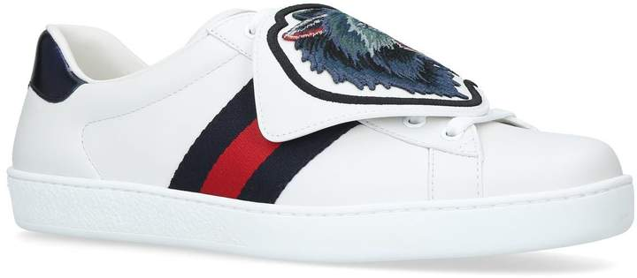 Gucci New Ace Wolf Patch Sneakers