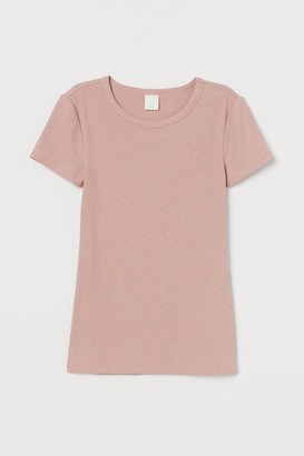 H&M Ribbed cotton T-shirt