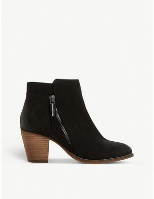 Dune Ponntoon nubuck leather ankle boots