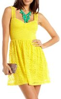 Charlotte Russe Sweetheart Lace A-Line Dress