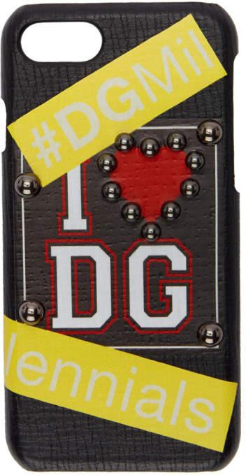 Dolce &amp; Gabbana Black I <3 iPhone 7 Case