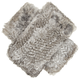 Diane von Furstenberg Rabbit-fur fingerless gloves