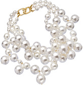 Kenneth Jay Lane Gold and Large Pearl Bib Necklace