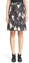 Tomas Maier Women's 'Shattered Lozenge' Quilted A-Line Skirt