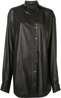 Ann Demeulemeester Coated Asymmetric Collar Shirt