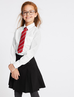 Marks and Spencer 2pk Girls' Longer Length Non-Iron School Blouses