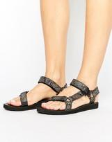 Teva Original Faux Snack Print Flat Sandal