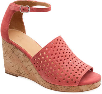Bill Blass Zelda Perforated Wedge Sandals