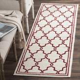 Safavieh Amherst Collection AMT414H Ivory and Red Indoor/Outdoor Area Rug, 2 Feet 6-Inch by 4 Feet