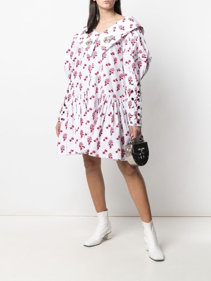 Thumbnail for your product : Chopova Lowena Floral Print Organic Cotton Dress
