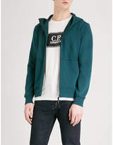 Cp Company Goggle-embellished Panelled Cotton Hoody