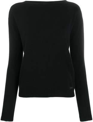 Liu Jo crystal embellished-logo sweater