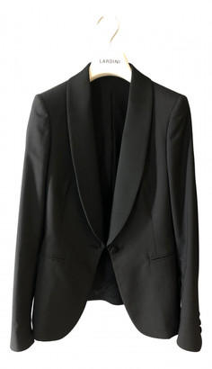 Lardini Black Silk Jackets