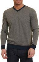Robert Graham Halfmoon Two-Tone Wool-Blend Sweater