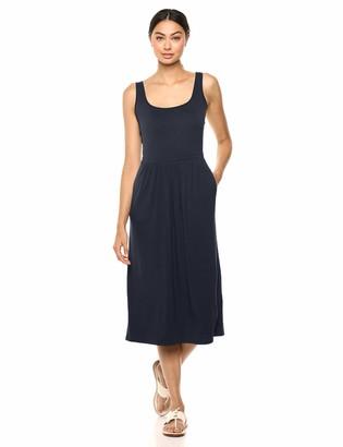 Daily Ritual Women's Jersey Sleeveless Standard-Fit Empire-Waist Midi Dress