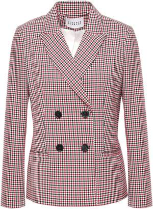 Claudie Pierlot Victor Double-breasted Checked Woven Blazer