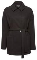 Dorothy Perkins Womens Black Short Wrap Belt Jacket, Black