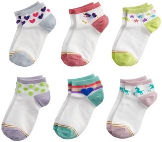 Gold Toe GOLDTOE 6-Pack Unicorn Sparkle Quarter Socks