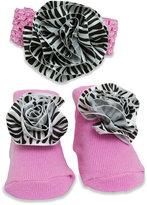 Baby Essentials Baby Girls' Headband & Socks Set