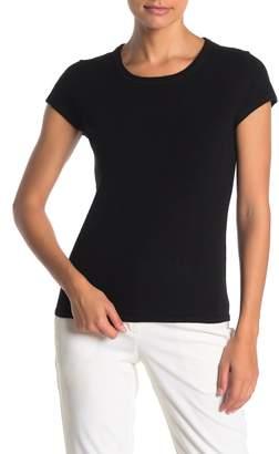 Catherine Malandrino Short Sleeve Cashmere T-Shirt (Petite)