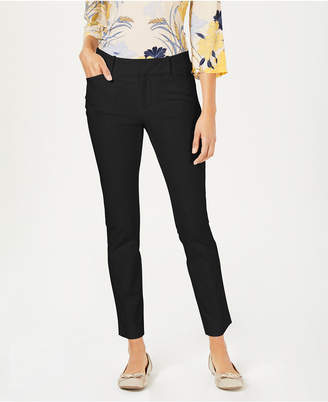 Charter Club Petite Solid Newport Slim-Leg Pants