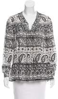 Thakoon Printed Long Sleeve Top