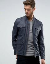 BOSS ORANGE By Hugo Boss Leather Jacket 4 Pocket