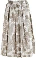 Taifun Pleated skirt olive green