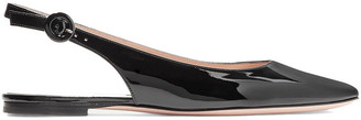 Gianvito Rossi Patent-leather Slingback Flats