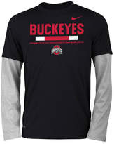 Nike Ohio State Buckeyes Legend Long Sleeve Staff T-Shirt, Big Boys (8-20)