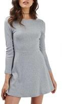 Topshop Lace-Up Back Skater Dress