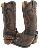 Stetson Snip Toe Harness W/ Bleach Boot Cowboy Boots