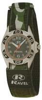 Ravel Boys Army Camouflage Fabric Velcro Strap Watch R1507.05