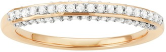 14k Gold Over Silver 1/3 Carat T.W. Diamond Wedding Ring