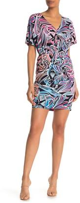 Trina Trina Turk Bias Short Sleeve Mini Dress