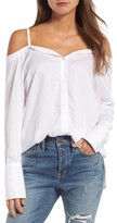 Treasure & Bond Women's Deconstructed Off The Shoulder Shirt