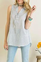 Entro Denim Stripe Tank