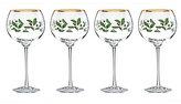 Lenox Holiday Balloon Wine Glasses, Set of 4