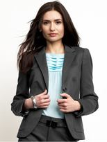 Sleek flap-pocket blazer